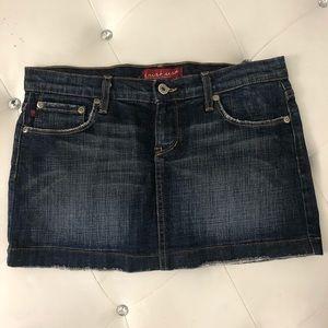 ⭐️5/$25 Just USA Distressed Denim Jean Mini Skirt